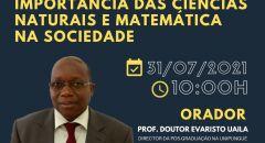 PALESTRAS DA FACULDADE DE CIÊNCIAS EXATAS E TECNOLOGIA